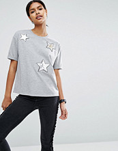 T-shirts - ASOS T-Shirt With Sequin Star Badges