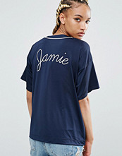 T-shirts - Pull&bear Slogan Back Satin Top