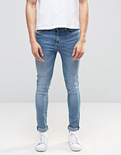 Jeans - Pull&bear Super Skinny Jeans In Light Wash Blue
