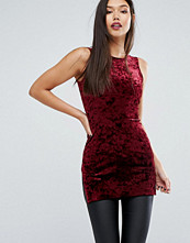 Linnen - Boohoo Stepped Hem Velvet Top