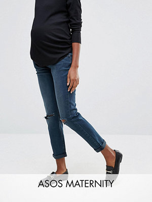 ASOS Maternity Kimmi Boyfriend Jeans In Grace Wash With Over The Bump Waistband
