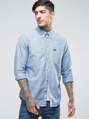 Skjortor - Lee Buttondown Chambray Shirt Blue Ice