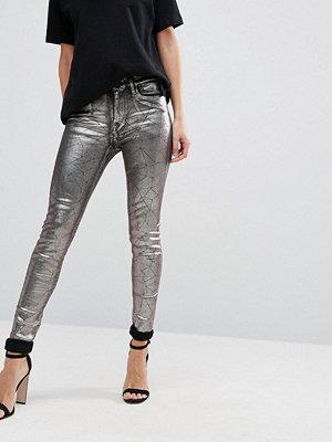 Replay Metallic Super Skinny High Rise Jeans