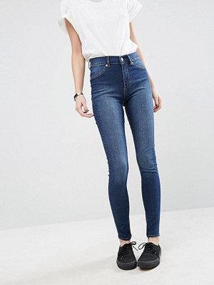 Cheap Monday Extra tajta skinny jeans med hög midja i ekologisk bomull Dovt blå