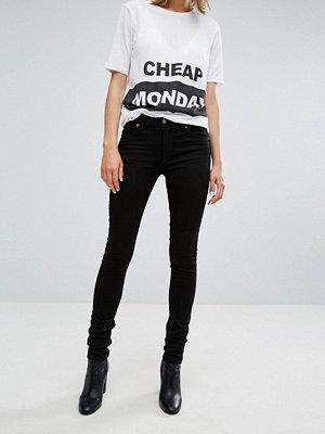 Cheap Monday Skinny jeans med medelhög midja Nysvart