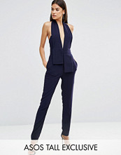 Asos Tall Halter Jumpsuit With Origami Fold Detail