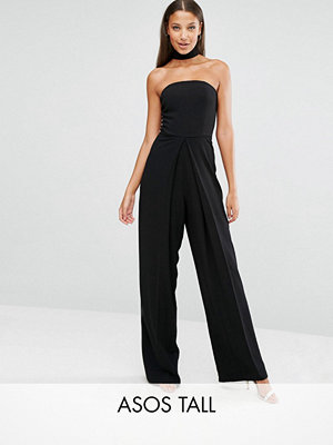 Asos Tall Bandeau Jumpsuit With Neck Strap Detail