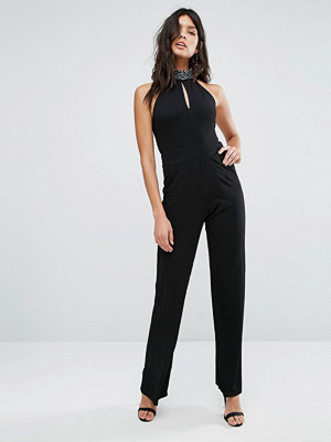 Oh My Love Embellished Neck Jumpsuit