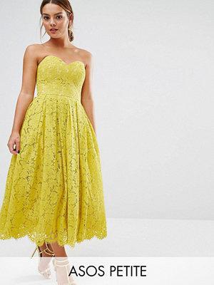 ASOS Petite Sweetheart Lace Bandeau Midi Dress