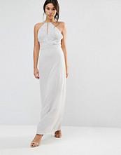 Maya Chiffon Maxi Dress With Embellished Body - Microchip grey