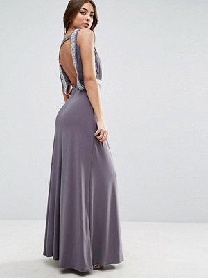 ASOS Drape Back Sparkle Maxi Dress
