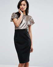 Paper Dolls Pencil Dress With Sequin Top