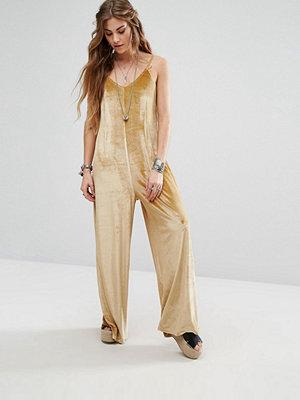 Glamorous Wide Leg Cami Jumpsuit In Velvet
