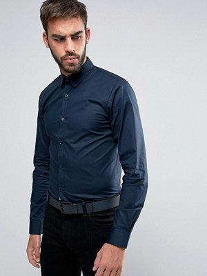 Hugo Boss Efin Stretch Shirt Extra Slim Skinny Fit Contrast Placket