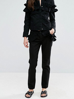 J Brand x Simone Rocha Pocket Ruffle Slim Boyfriend Jeans
