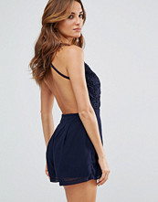 Girl In Mind Jessie Backless Crochet Playsuit