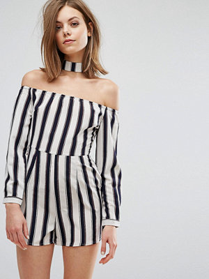 Influence Playsuit With Choker Neck