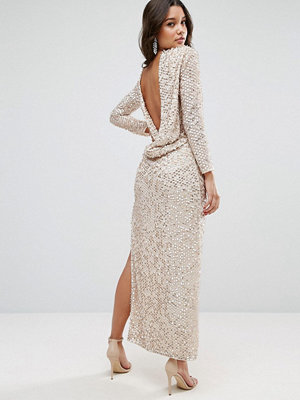 ASOS All Over Sequin Cowl Back Maxi Dress