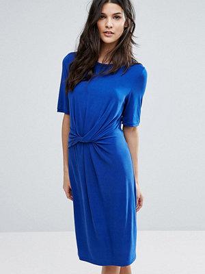 Selected Jersey Knot Dress - Mazarine blue