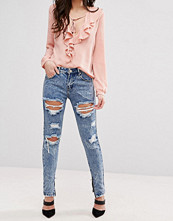 Jeans - Glamorous Ripped Acid Wash Jeans