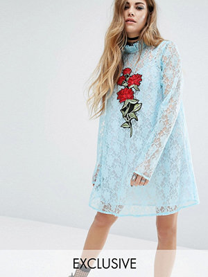 Reclaimed Vintage X Romeo And Juliet Lace Dress With Patch