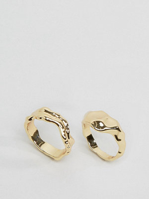 Monki 2 Pack Ornate Rings