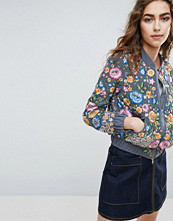 Needle & Thread Needle and Thread Floral Embroidered Bomber Jacket