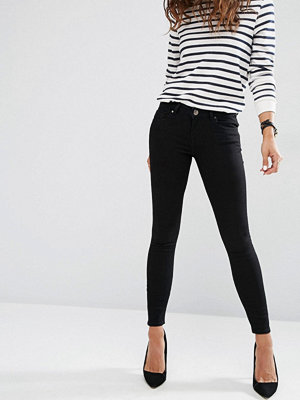 ASOS WHITBY Low Waist Skinny Jeans In Clean Black