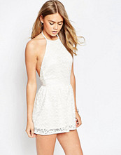 ASOS 90's Halter Playsuit in Lace