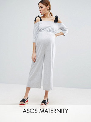 ASOS Maternity Jersey Jumpsuit with Grossgrain Tie