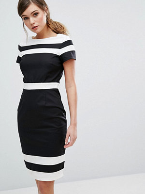 Paper Dolls Panelled Pencil Dress In Contrast Stripe