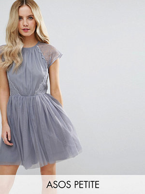 ASOS Petite PREMIUM Lace Tulle Mini Prom Dress