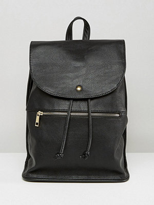 ASOS ryggsäck Soft Backpack with Zip Detail