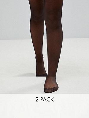 ASOS DESIGN 2-pack tights i 15 denier