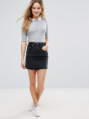 Brave Soul Acid Wash Denim Mini Skirt