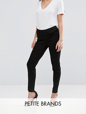 New Look Petite Svarta jeggings med hög midja