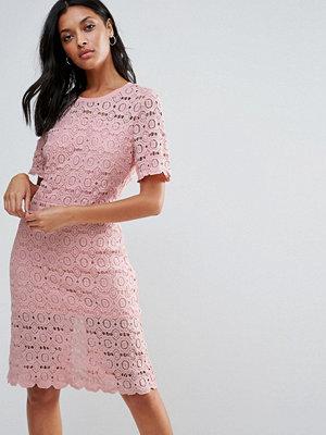 Liquorish Floral Lace Pencil Dress