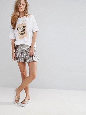 Pull&Bear Frill Detail Mini Skirt