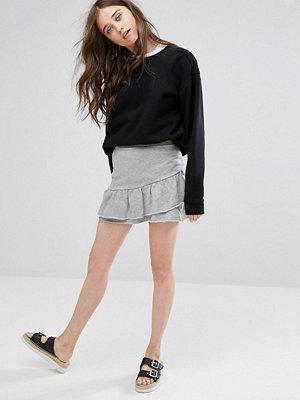 Pull&Bear Frill Detail Skirt In Jersey