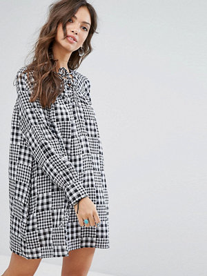 Glamorous Smock Dress In Mixed Gingham