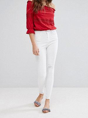 Miss Selfridge Skinny jeans med fransiga benslut
