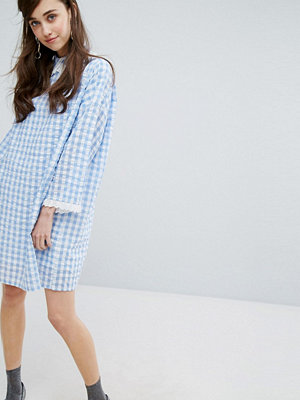 Sister Jane Mini Dress In Gingham With Collar
