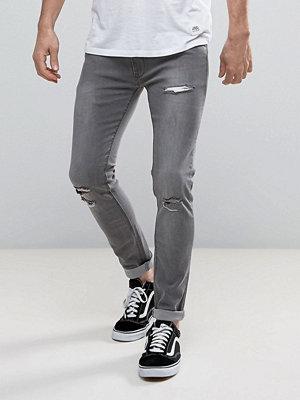 Jeans - Soul Star Skinny Stretch Rip Jeans