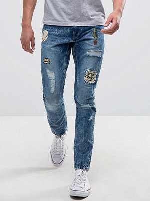 Jeans - Only & Sons Jeans in Slim Fit with Patches
