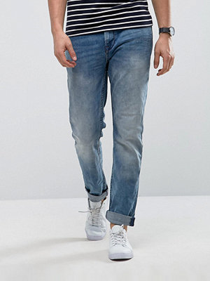 Jeans - Only & Sons Slim Fit Jean In Medium Blue Wash