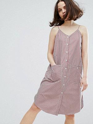 Monki Gingham Pocket Cami Dress