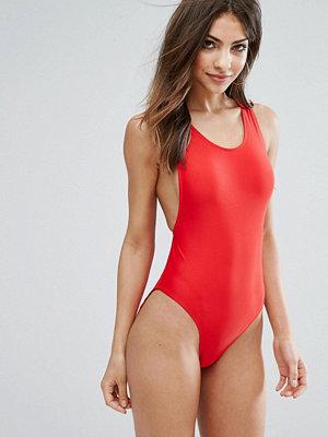 Baddräkter - Missguided High Leg Swimsuit
