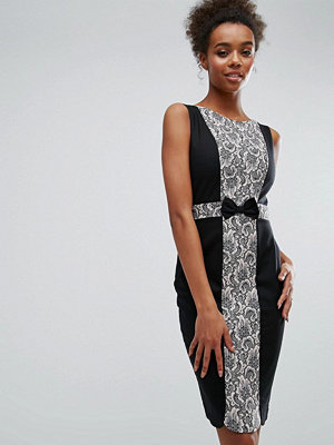 Paper Dolls Black And Pink Lace Panel Dress