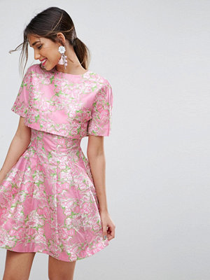 ASOS Edition ASOS SALON Ultra Cropped Top Fit and Flare Skater Dress