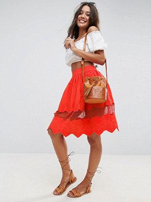 ASOS Broderie Midi Skirt